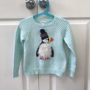 Cat & Jack Girls Penguin Sweater (3T)